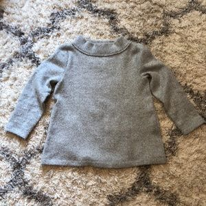 LOFT cowl neck sweater, gray, size XS